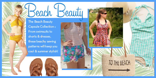 Girl Charlee Fabrics Sewing Pattern Capsule Collections :: Beach Beauty