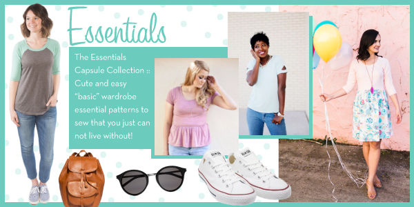 Girl Charlee Fabrics Sewing Pattern Capsule Collections :: Essentials