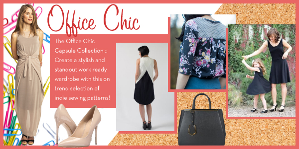 Girl Charlee Fabrics Sewing Pattern Capsule Collections :: Office Chic