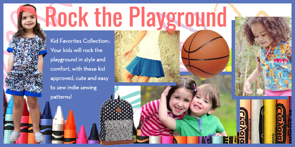 Girl Charlee Fabrics Sewing Pattern Collection :: Rock The Playground
