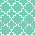 Desert Sky Mint Quatrefoil Cotton Spandex Knit Fabric