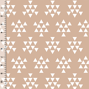 Half Yard Desert Sky Triangle Arrows Almond Cotton Spandex Knit Fabric
