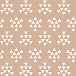 Desert Sky Triangle Arrows Almond Cotton Spandex Knit Fabric