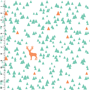 Desert Sky Triangle Stag Cotton Spandex Knit Fabric