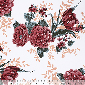 Exclusive Collection Bonny Floral Cotton Spandex Knit Fabric