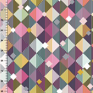 Homestead Life Linear Diamonds Cotton Spandex Knit Fabric