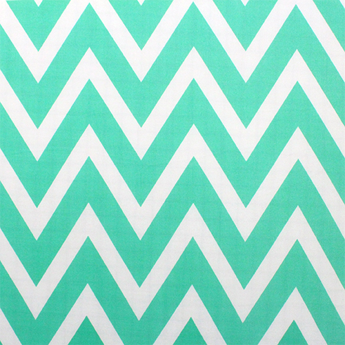 Big Tiffany Blue Natural White Chevron Jersey ITY Knit Fabric