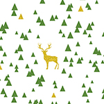 Jolly Holiday Sparkle Triangle Stag Cotton Spandex Knit Fabric