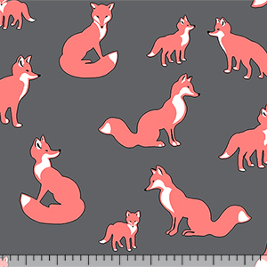 Modern Reflection Fox Family Cotton Spandex Knit Fabric