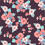 Modern Reflection Paper Cut Floral Cotton Spandex Knit Fabric