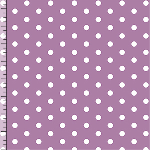 Modern Reflection Orchid Dots Cotton Spandex Knit Fabric