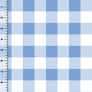 Half Yard Modern Reflection Giant Gingham Cotton Spandex Knit Fabric
