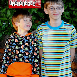 Fishsticks Designs Charlie Tee & Hoodie Big Kid Sizes Sewing Pattern
