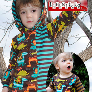 Fishsticks Designs Charlie Tee & Hoodie Infant and Toddler Sizes Sewing Pattern