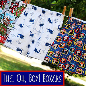 Fishsticks Designs Oh, Boy! Boxers Sewing Pattern