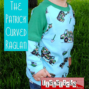 Fishsticks Designs Patrick Curved Raglan Infants and Toddler Sizes Sewing Pattern