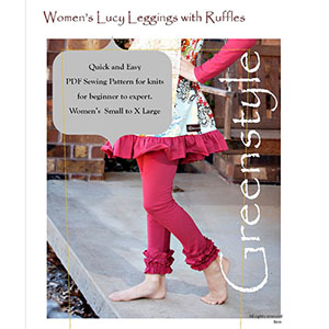 Greenstyle Women\'s Lucy Leggings Sewing Pattern