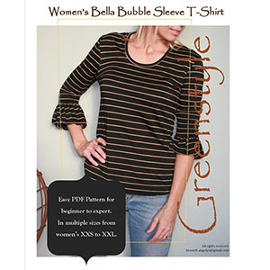 Greenstyle Women\'s Bella Bubble Sleeve T-Shirt Sewing Pattern