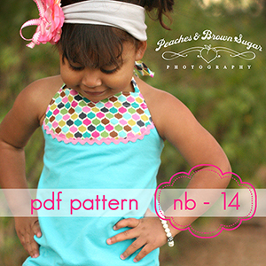Jocole Sandcastle Halter Top Sewing Pattern