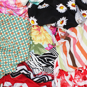 HUGE Flawed Small Pieces Mix Cotton Knit Fabric Bargain Lot