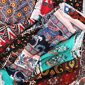 Bohemian Mystery Mix 1/4 Yard Knit Fabric Bargain Lot