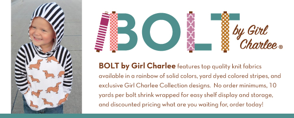 BOLT by Girl Charlee 95/5 Cotton Spandex Knits