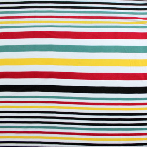 Beach Chair Multi Stripe Cotton Jersey Knit Fabric