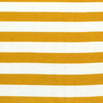 Mustard and Ivory Stripe Cotton Spandex Knit Fabric