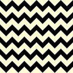 Black Chevron on Cream Cotton Jersey Blend Knit Fabric