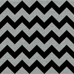 Black Chevron on Heather Gray Cotton Jersey Blend Knit Fabric