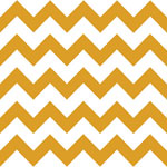 Mustard Chevron on White Cotton Jersey Blend Knit Fabric