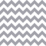 Gray Chevron on White Cotton Jersey Blend Knit Fabric