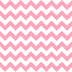 Perfectly Pink Chevron on White Cotton Jersey Blend Knit Fabric