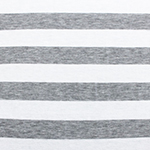 Heather Gray and White Stripe Cotton Jersey Blend Knit Fabric
