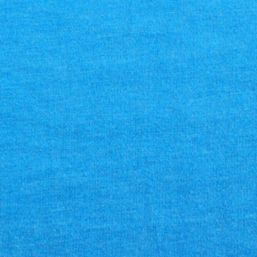 Deep Sky Blue Heather Solid Cotton Jersey Knit Fabric