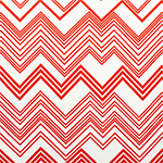 Koi Orange Linear Chevron Cotton Jersey Blend Knit Fabric