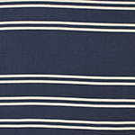 Navy Blue with Taupe Small Stripes Cotton Jersey Knit Fabric