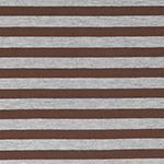 Bole Brown Heather Gray Half Inch Stripe Cotton Jersey Blend Knit Fabric
