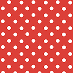 Anchors Away White Dots on Red Cotton Spandex Knit Fabric