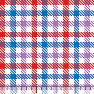 Half Yard Candy Plaid Color Trio Cotton Jersey Blend Knit Fabric