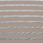Small Heather Gray and Shitake Mushroom Stripe Cotton Jersey Blend Knit Fabric
