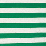 Kelly Green and Oatmeal Stripe Cotton Jersey Blend Knit Fabric