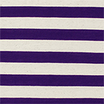 Royal Purple and Oatmeal Stripe Cotton Jersey Blend Knit Fabric