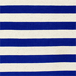 Royal Blue and Oatmeal Stripe Cotton Jersey Blend Knit Fabric