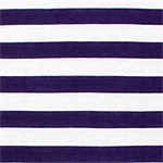 Royal Purple and White Stripe Cotton Jersey Blend Knit Fabric