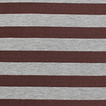 Bole Brown Heather Gray Stripe Cotton Jersey Blend Knit Fabric