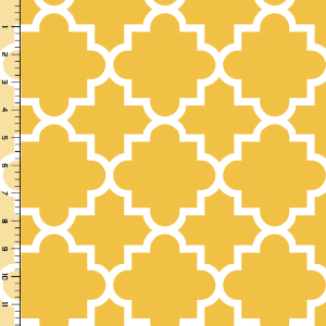 Quatrefoil Mustard Cotton Jersey Blend Knit Fabric