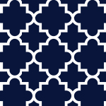 Quatrefoil Oxford Blue Cotton Jersey Blend Knit Fabric