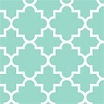 Quatrefoil Ice Green Cotton Jersey Blend Knit Fabric