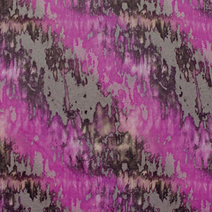 Magenta Gray Watercolor Cotton Jersey Knit Fabric